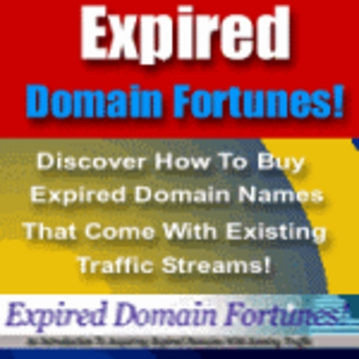 Product picture Expired Domain Fortunes - Make Money From Your Website!