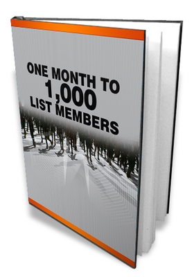 Product picture ONE Month To A 1000 List Members- Make Money Website Lists